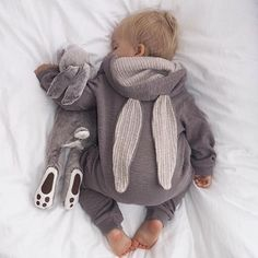 "Bunnies Super cute snoozy pic from @julie.stromsnes x #littlegathererkids…"""