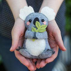DIY Felt Koala Stuffie - Follow the step-by-step tutorial and you'll have yourself a sweet handmade felt friend