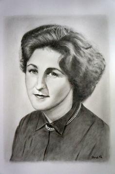 Dry Brush portrét ženy.