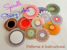 Spirelli String Art Patterns & Instructions