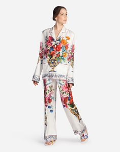 241c4779b55f PYJAMA BLOUSE IN PRINTED SILK Ladies Pyjamas