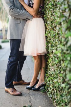 Charleston engagement by JoPhoto with pink tulle skirt