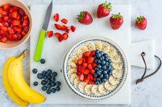 Rise and Shine Beautiful Triple Berry Banana Oatmeal Breakfast Bowls   Clean Food Crush