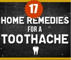 {TESTED & PROVEN } 17 Home remedies for toothache that Works!!!. ------> http://www.extrawellness.net/17-natural-ways-to-relieve-toothache/