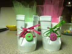 styrofoam cup booties!