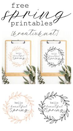 Download these free spring printables for your home and personal use only.