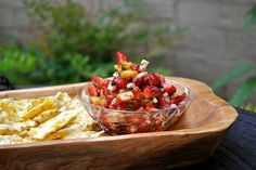 Strawberry Salsa with Cinnamon-Sweet Baked Tortilla Chips