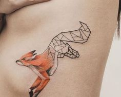 Fox runner tattoo - side belly
