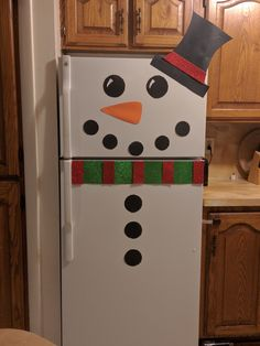 DIY Snowman Fridge