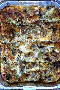 Make Ahead Breakfast Casserole #breakfast #makeahead #breakfastcasserole #Christmasmorning