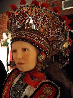 """folk costume"" - It Was A Work of Craft Norwegian Clothing, European Costumes, Norwegian Vikings, Wedding Costumes, Bridal Crown, Antique Clothing, Traditional Dresses, Traditional Wedding, Folk Costume"