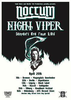 NOCTUM tour dates with Night Viper!