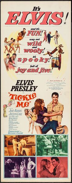 Tickle Me (1965) Stars: Elvis Presley, Julie Adams, Jocelyn Lane, Jack Mullaney, Merry Anders, Bill Williams ~ Director: Norman Taurog