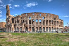 The Colosseum (Rome, Italy) is one of the most iconic structures in Rome. HDR photo was created from 3 RAW files by daylight (+1, 0, -1ev): Canon EOS 5D Mark II - 24mm - F14 - ISO 100. Post-processing: Camera Raw -> Photomatix Pro -> Photoshop. #hdr #photo #colosseum