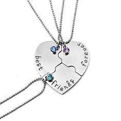 Oferta: 1.99€. Comprar Ofertas de Elegant Rose Tres piezas Best Friends Forever BFF plata corazón clave Colgante Collar Conjunto Amistad accesorios barato. ¡Mira las ofertas!