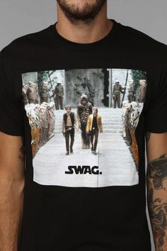 101 Funny Star Wars T Shirts | 9. Star Wars Swag Tee