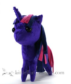 Plush Unicorn Pony  My Little Pony by LittleFoxCreationsWA on Etsy