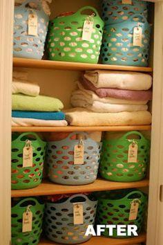 6 Closet Organizing with Cheap Plastic Baskets