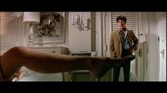 Interesting Trivia- Leg scene from The Graduate with Dustin Hoffman and Ann Bancroft. The leg belongs to actress Linda Gray (Sue Ellen Ewing) of Dallas fame. She received a modest amount of money to be Ann Bancroft's leg double.