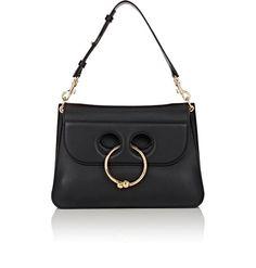 J.W.ANDERSON Pierce Medium Shoulder Bag. #j.w.anderson #bags #shoulder bags #stone #suede #