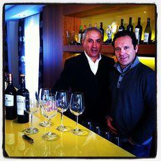Luis Cañas y Josemi Zubía, en plena cata #enrutaconlaguia