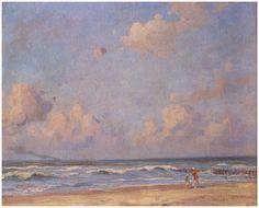 Emmanuel Viérin (1869-1954), Plage, mer et nuages - 1918