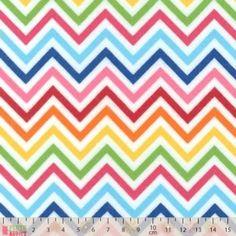 Robert Kaufman - Remix Flannel Chevrons Rainbow