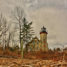 This is the McGulpin Point Lighthouse which is located just West of Mackinaw City in the Lower Peninsula of Michigan. It has been undergoing renovations for several years, and is looking really good these days.