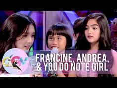You Do Note girl exchanges lines with Andrea and Francine | GGV - YouTube
