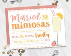 Rise and Shine  Wedding Brunch Invitation by EventswithGrace