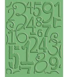 Cuttlebug A2 Embossing Folder-Number Collage