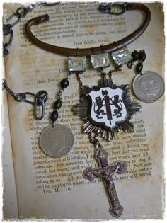 Decayed Nobility Necklace by readbetweenlines on Etsy, $35.00