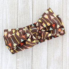 Chocolate Arrow Wrap Baby Headwrap Tribal by BrittsBowtiqueVA