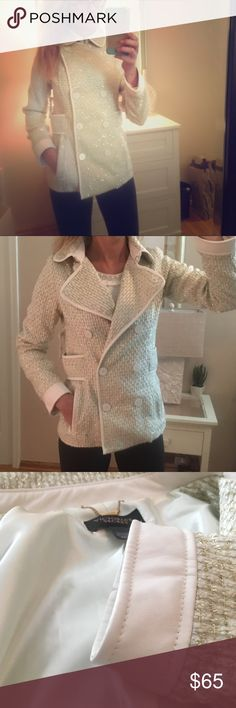 ca010494db5d6 Victoria s Secret winter gold and white coat Brand new. Two ways to wear.  Fully lined. Vs size xsmall but would fit a small too Jackets   Coats