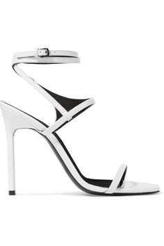 4d5a6e9b4b0 Saint Laurent White Sandals