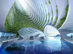 Vincent Callebaut (b. May 27, 1977 - ) is a Belgian ecological architect. He designs futuristic-like ecodistrict projects which take account of several aspects of sustainability (renewable energies, biodiversity, urban agriculture).