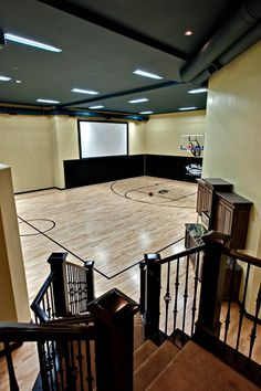 Beautiful #basketball #court #design. Check more at www.michiganhomes.com