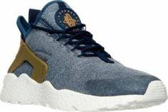 the latest eff89 f0de4 Women s Nike Air Huarache Run Ultra Running Midnight Navy Blue Grey 859516  400. Running SneakersRunning ShoesSneakers ...