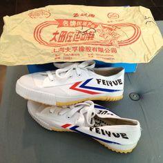 Original Feiyue shoes from Shanghai.