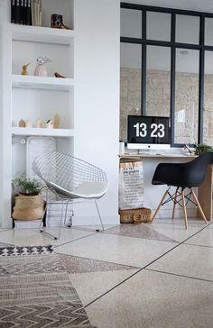 Design/séparation du verre intéressant et aménagement sous la verrière pratique