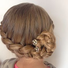 Last picture is this style, this time with youpins. What style would you like to see done with Lilla Rose products? Ballet Hairstyles, Braided Hairstyles, Beautiful Braids, May 7th, Hair Lengths, Tangled, Buns, Sparkle, Hair Accessories
