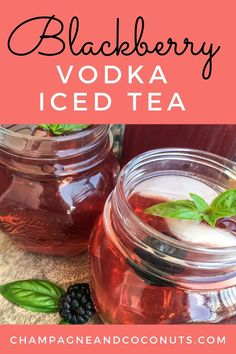 Enjoy sipping a yummy Blackberry Sweet Tea Vodka Cocktail. Make your fresh blackberry iced tea in your pressure cooker and add in some yummy sweet tea vodka for a refreshing cocktail! Easy to make, and you can easily serve the blackberry iced tea without the vodka too! Iced Tea Cocktails, Cocktail And Mocktail, Refreshing Cocktails, Yummy Drinks, Cocktail Recipes, Blackberry Syrup Recipes, Blackberry Tea, Vodka Taste, Sweet Tea Vodka