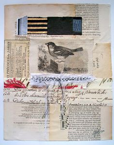 the sparrow house, mixed media, caterina giglio 16 x 13 SORRY-SOLD