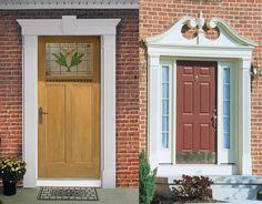 Delicieux Exterior Front Door Molding   Fiberglass Exterior Doors Possess The Custom  Capacities Of Carvings, Glass, Metals That Are De