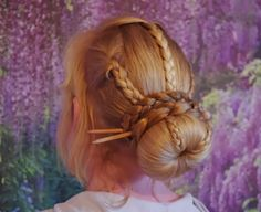 Long Hair Sticks | Braids & Hairstyles for Super Long Hair: Sock Bun w/ Blonde Accent ...