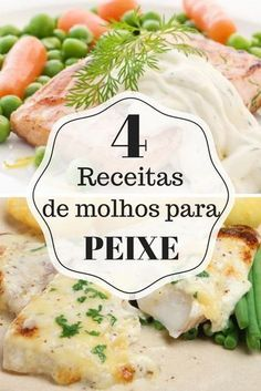 4 receitas de molhos para peixe: confira Receitas Gostosas – Yemek Tarifleri – Resimli ve Videolu Yemek Tarifleri Chef Recipes, Fish Recipes, Cooking Recipes, Healthy Recipes, Salty Foods, Portuguese Recipes, Seafood Dishes, Easy Cooking, Food Inspiration