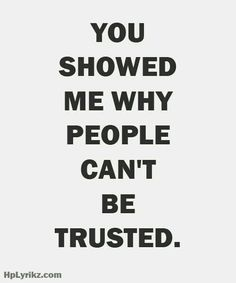 I lost my trust for ppl