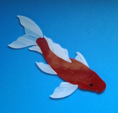 KOI FISH Precut Stained Glass Art Mosaic Inlay Kit - Garden Pond Stone Tile DIY #UroborosSpectrum
