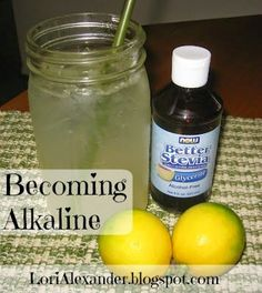 Fresh Lemonade And Becoming Alkaline ~ Did you know that the key to good health is becoming as alkaline as you possibly can? Here are some simple ways to becoming more alkaline!