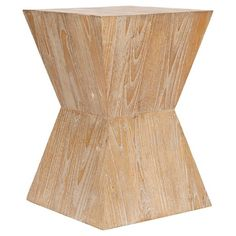 Noatak Side Table Pickled Oak - Safavieh : Target